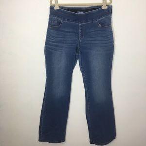 Old Navy Rockstar Straight Leg Elastic Jeans